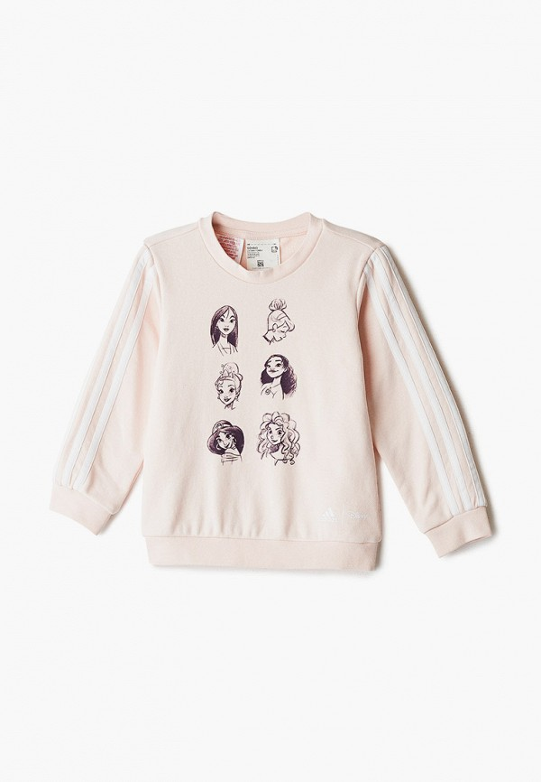 свитшот adidas для девочки, розовый