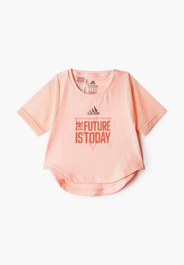 футболка adidas для девочки
