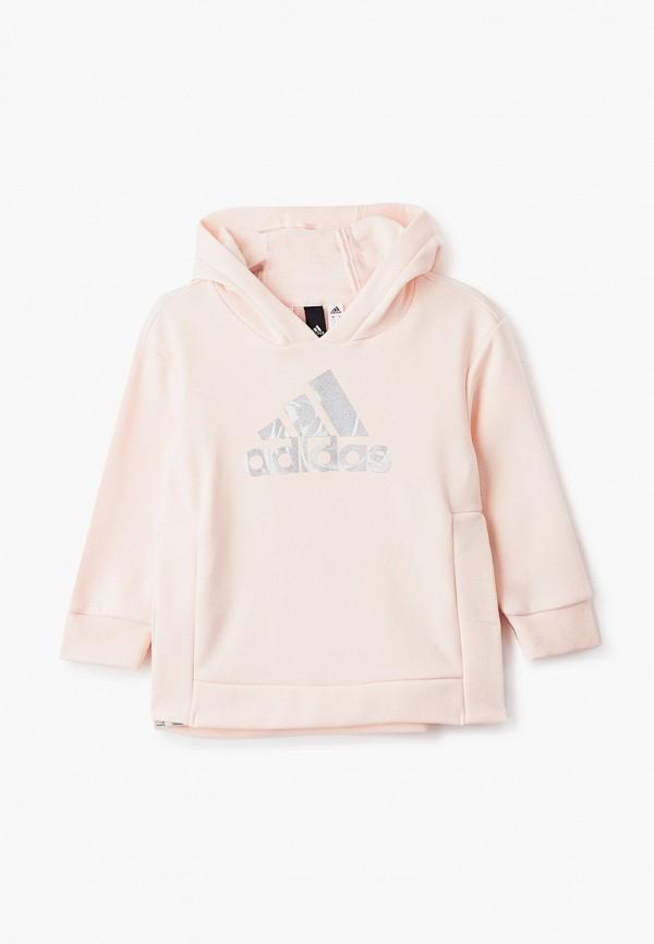 худи adidas для девочки, розовые