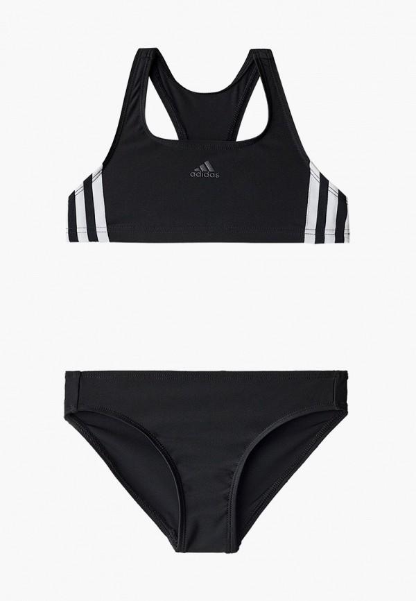 купальник adidas для девочки, черный