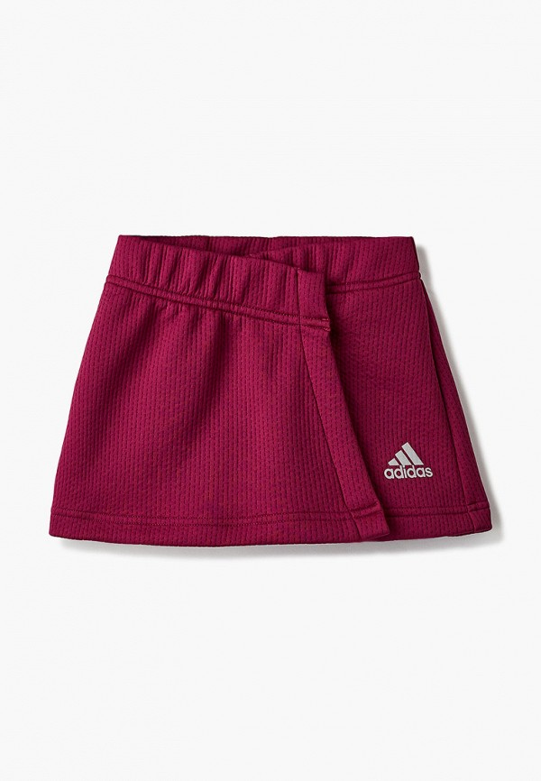 юбка adidas для девочки, бордовая