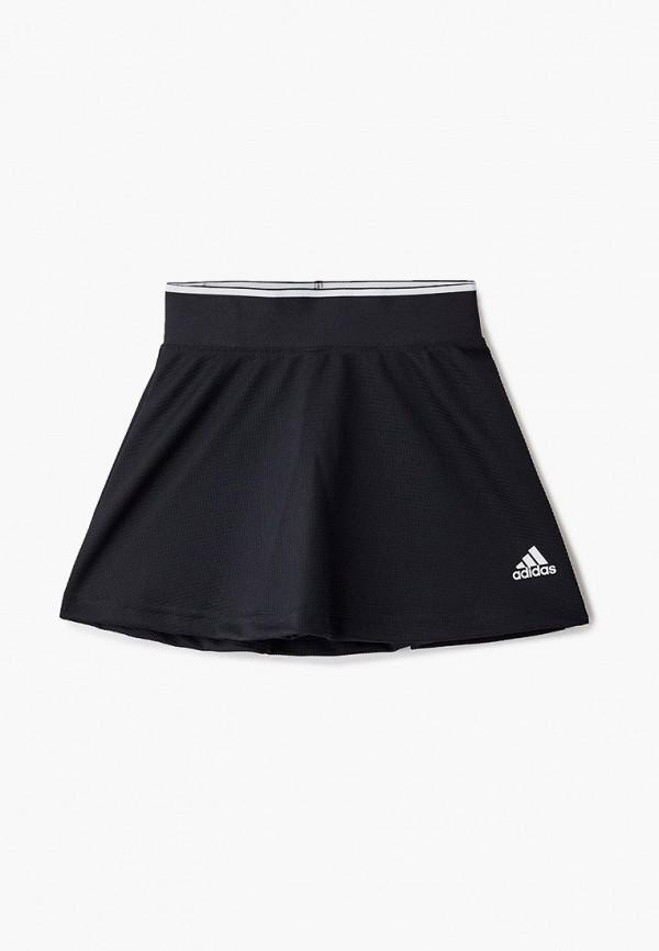 юбка adidas для девочки, черная