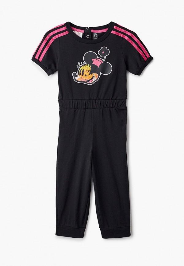 комбинезон adidas для девочки, черный