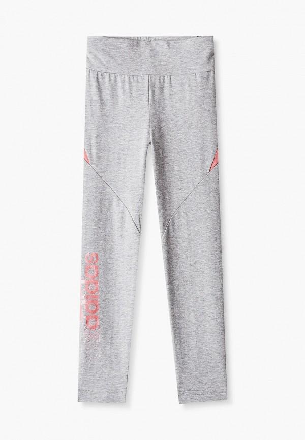 леггинсы adidas для девочки, серые