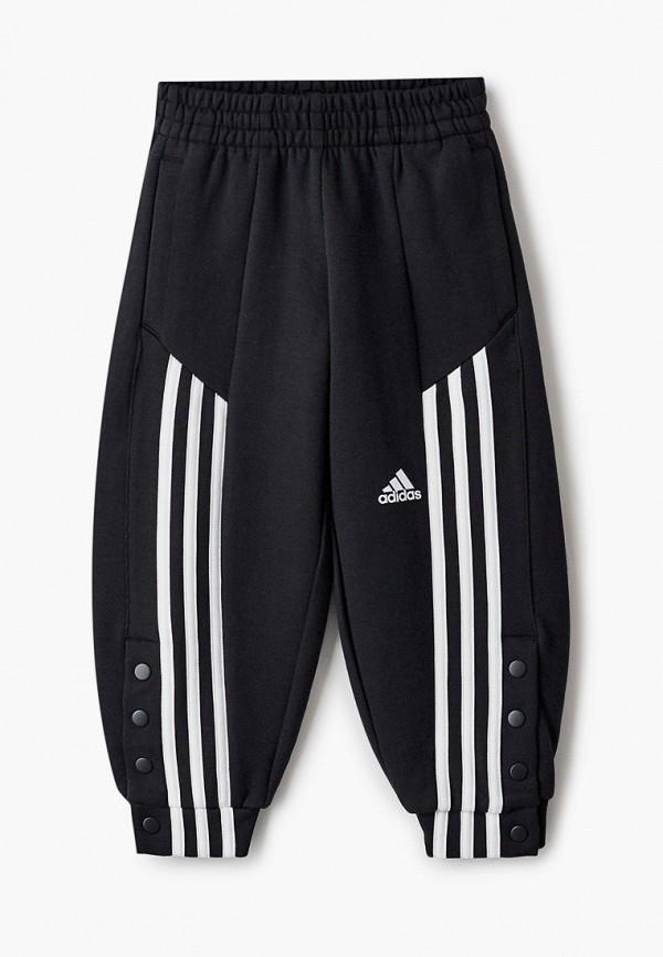 спортивные брюки adidas для девочки, черные