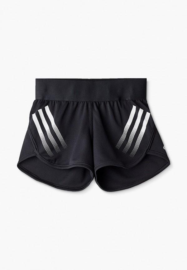 спортивные шорты adidas для девочки, черные