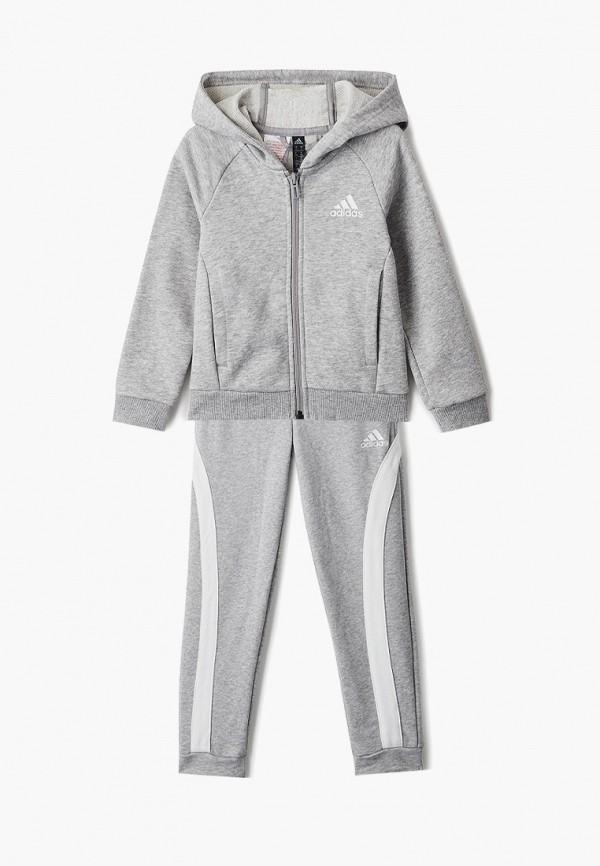 спортивный костюм adidas для девочки, серый
