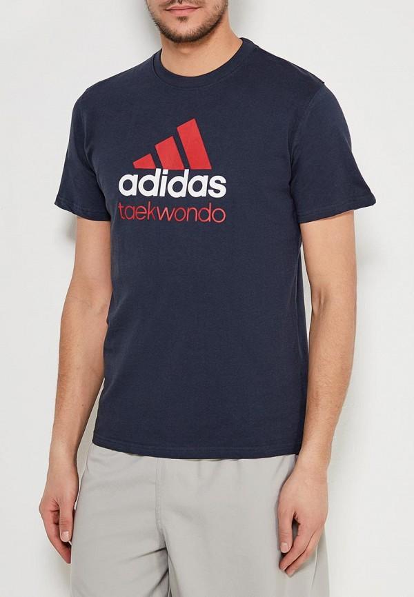 мужская футболка adidas, синяя