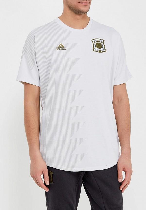 Фото - Футболку спортивная adidas белого цвета