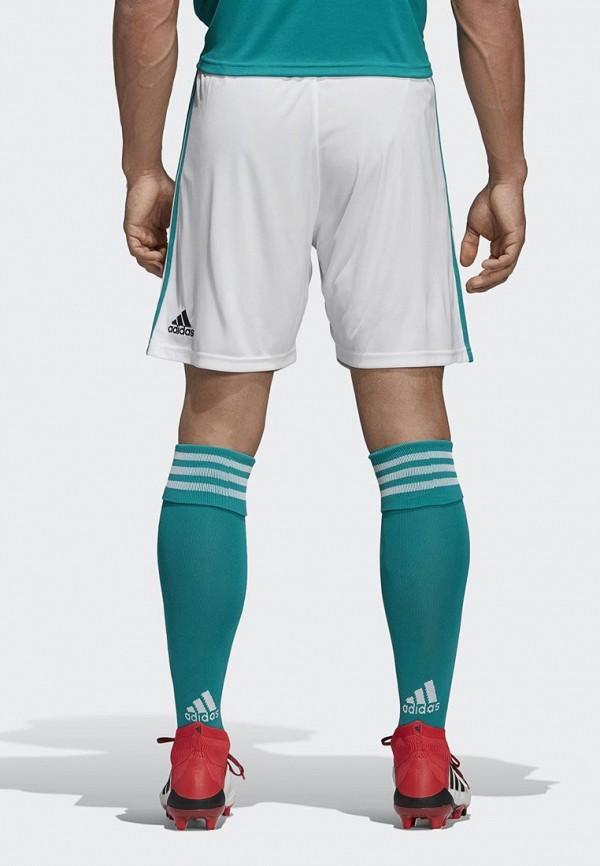 Фото 2 - Шорты спортивные adidas белого цвета