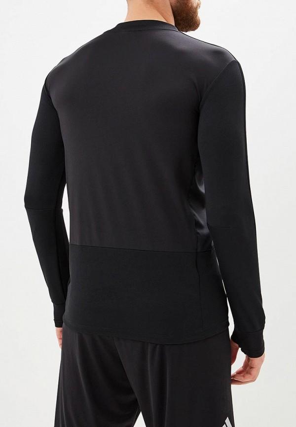 Фото 3 - Лонгслив спортивный adidas черного цвета