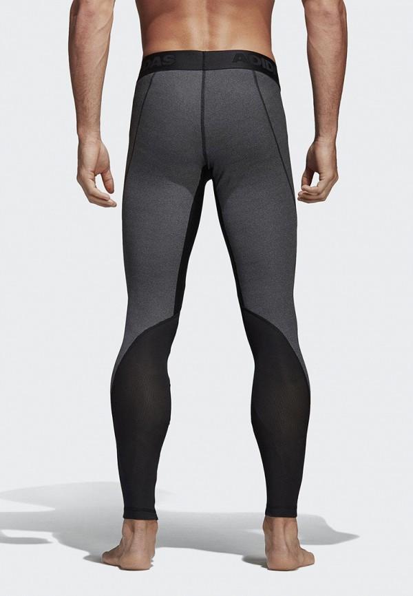 Фото 3 - Тайтсы adidas серого цвета
