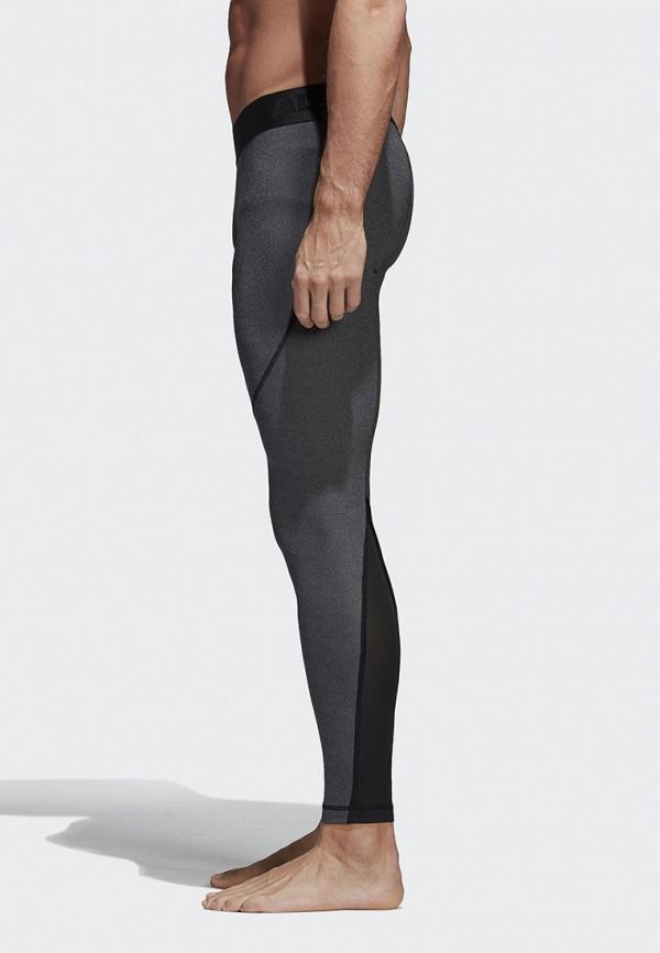 Фото 4 - Тайтсы adidas серого цвета