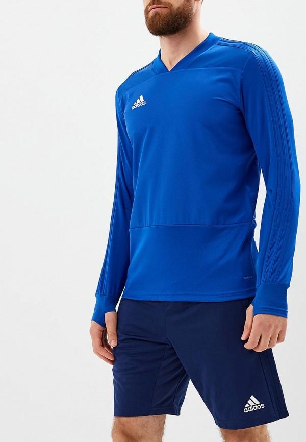 Купить Лонгслив спортивный adidas, CON18 TR TOP, AD002EMCDFX6, синий, Осень-зима 2018/2019