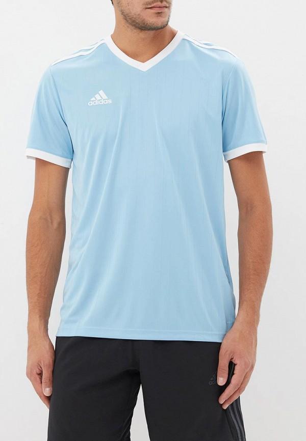 мужская футболка adidas, голубая