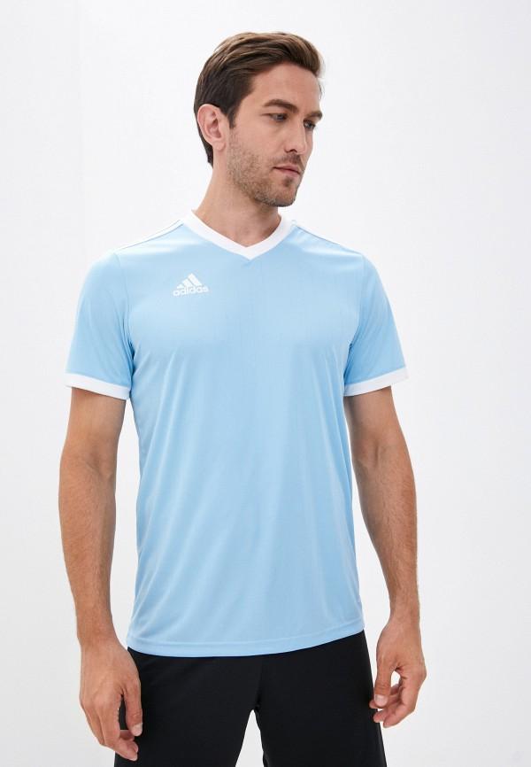 мужская спортивные футболка adidas, голубая