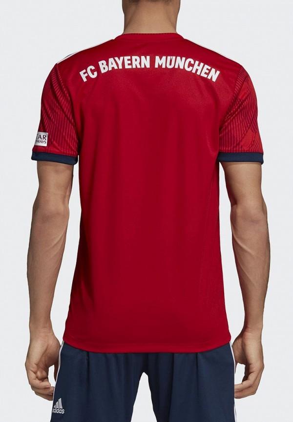Фото 3 - Футболку спортивная adidas красного цвета