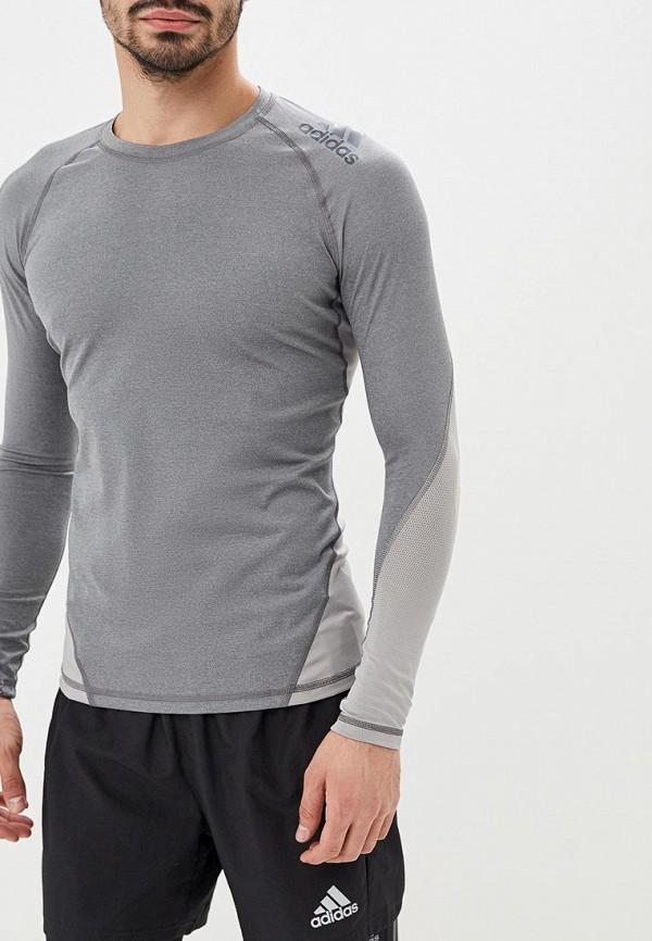 мужской лонгслив adidas, серый