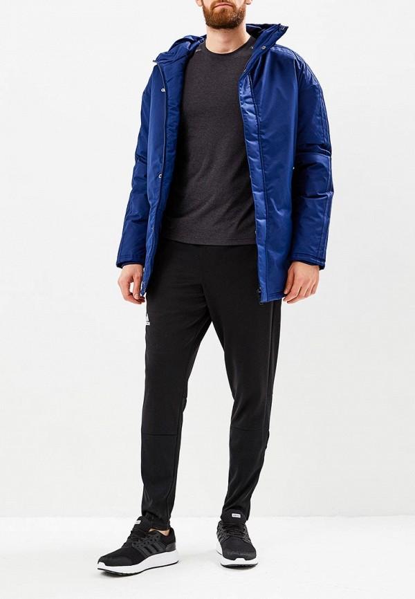 Фото 2 - Куртку утепленная adidas синего цвета