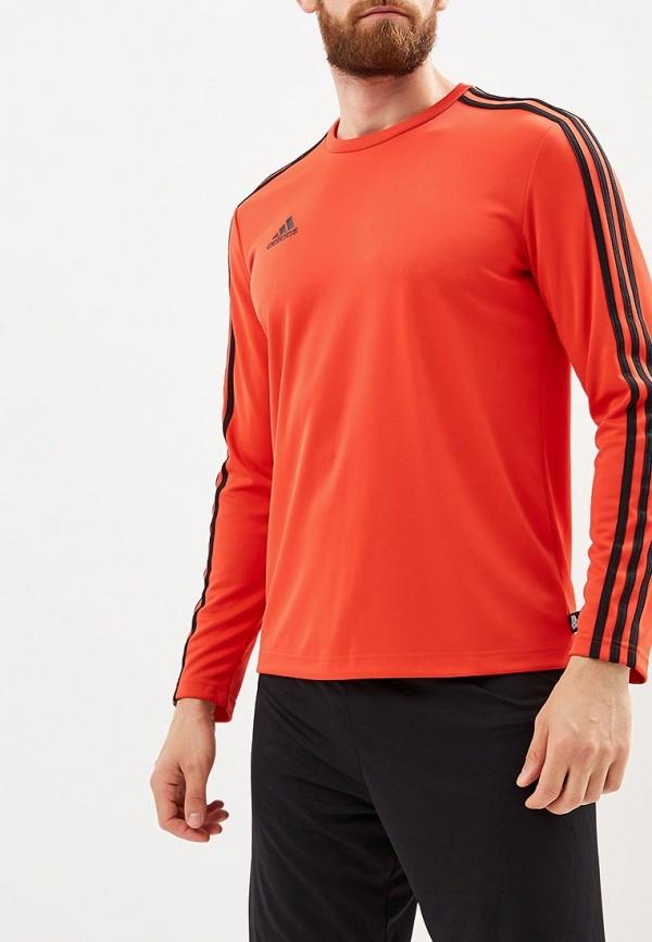 Купить Лонгслив спортивный adidas, TAN TERRY JSYLS, AD002EMCDGQ5, красный, Осень-зима 2018/2019