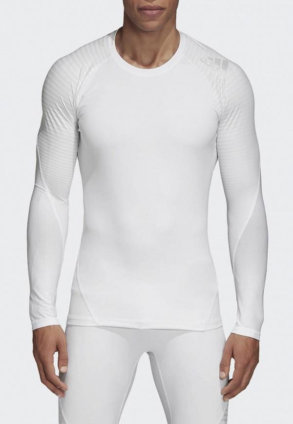 Купить Лонгслив спортивный adidas, adidas AD002EMCDGT4, белый, Осень-зима 2018/2019