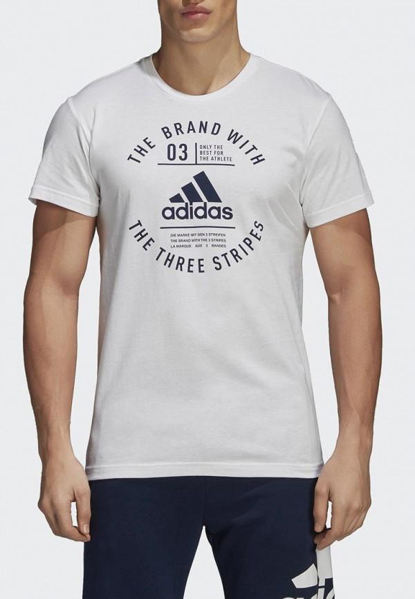 Купить Футболка adidas, adidas AD002EMCDGU6, белый, Осень-зима 2018/2019