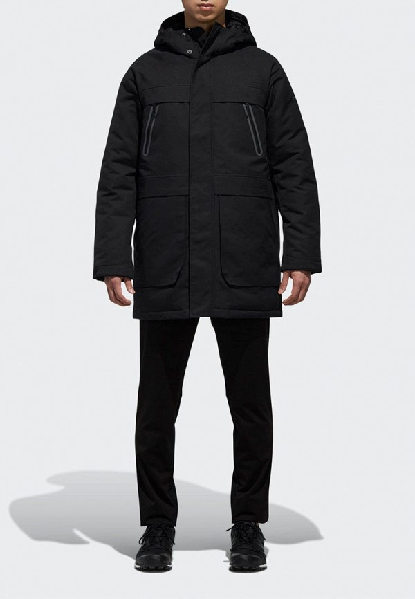 Купить Пуховик adidas, CLIMAWARM PARKA, ad002emdgis4, черный, Осень-зима 2018/2019