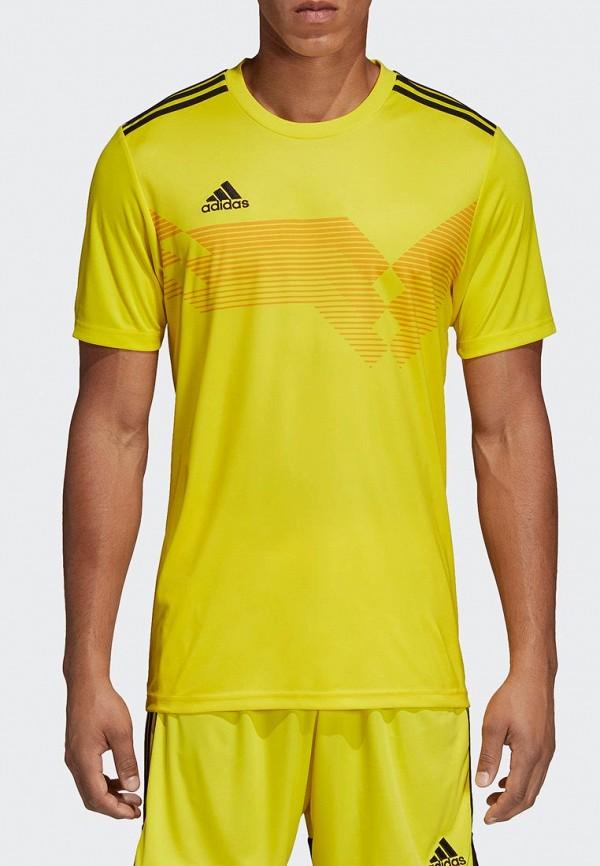 Футболка спортивная adidas adidas AD002EMEEHY7 футболка женская adidas trefoil tee цвет желтый cv9893 размер 42 48