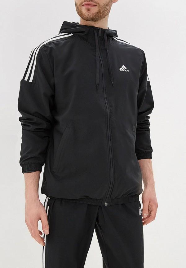 Фото 2 - Костюм спортивный adidas черного цвета