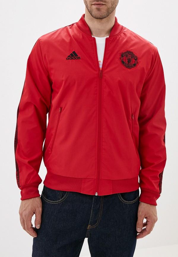 мужская куртка adidas, красная