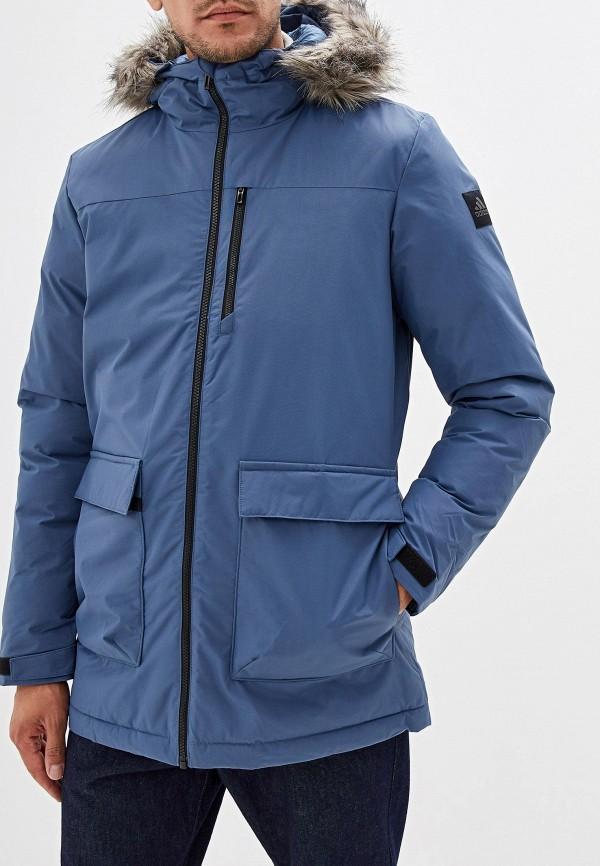 Фото - Куртку утепленная adidas синего цвета