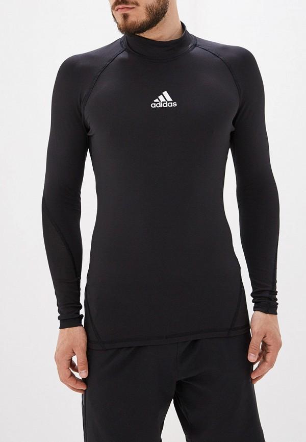 Купить Лонгслив спортивный adidas черного цвета