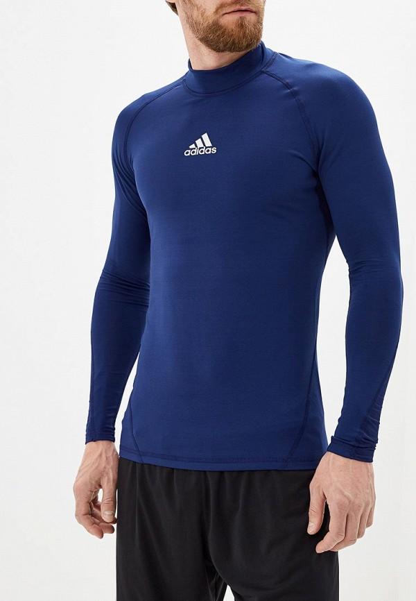 Купить Лонгслив спортивный adidas синего цвета