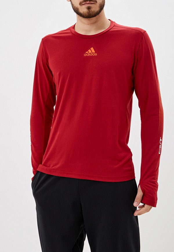 мужской лонгслив adidas, красный