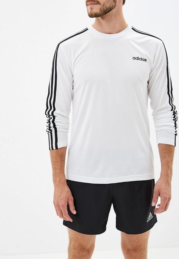 мужской лонгслив adidas, белый