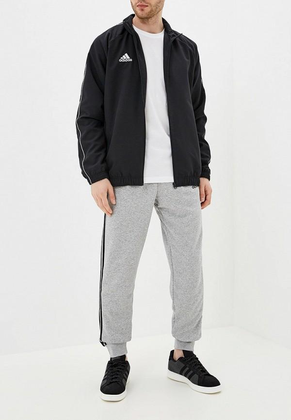 Фото 2 - Ветровка adidas черного цвета