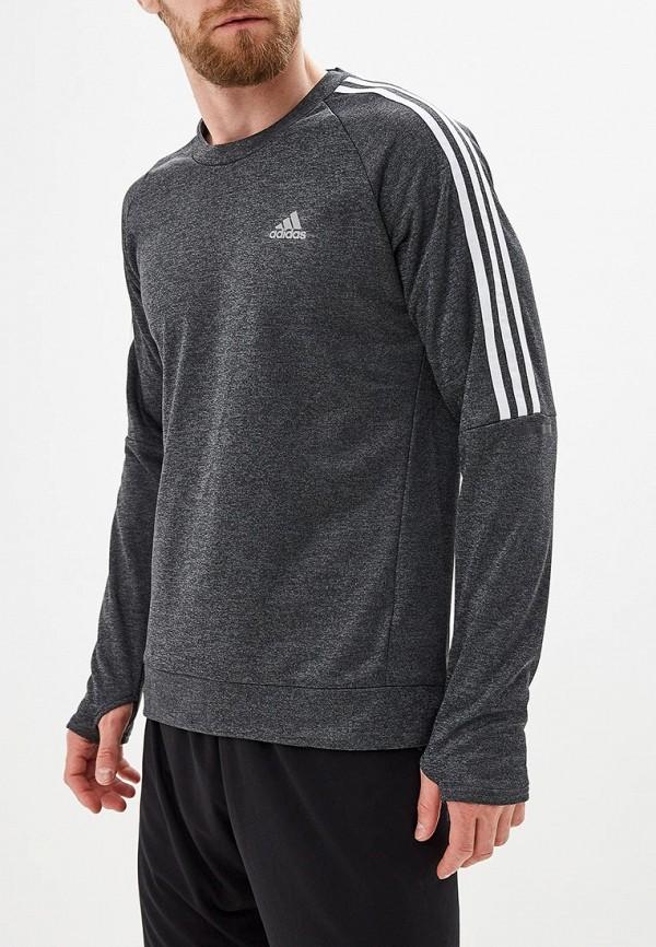 Купить Лонгслив спортивный adidas серого цвета