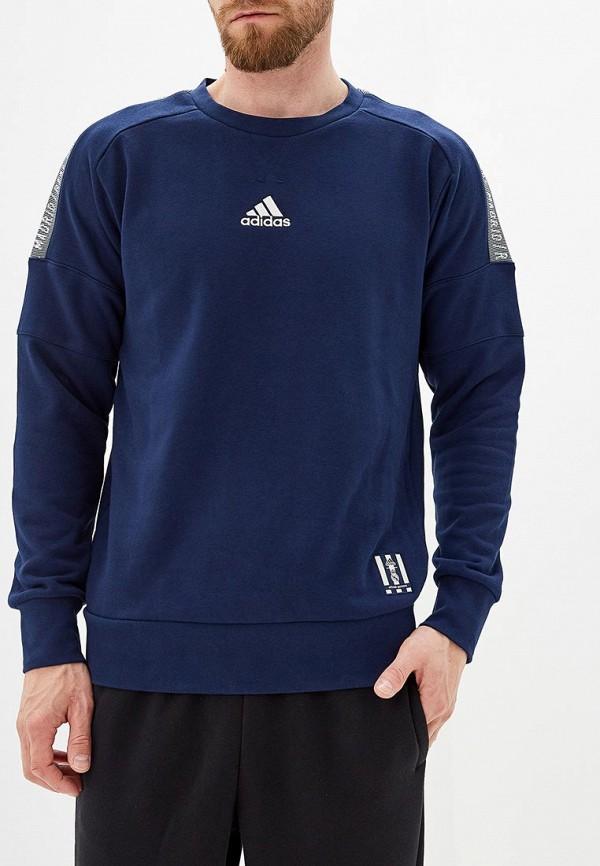 Купить Свитшот adidas синего цвета