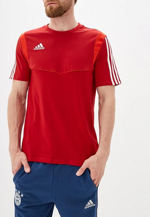 мужская футболка adidas, красная