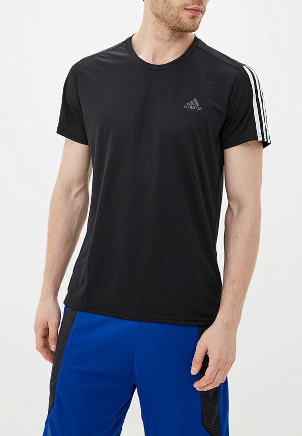 Купить Футболку adidas черного цвета