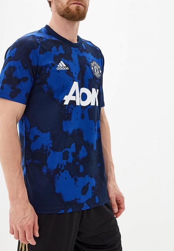 Купить Футболку спортивная adidas синего цвета