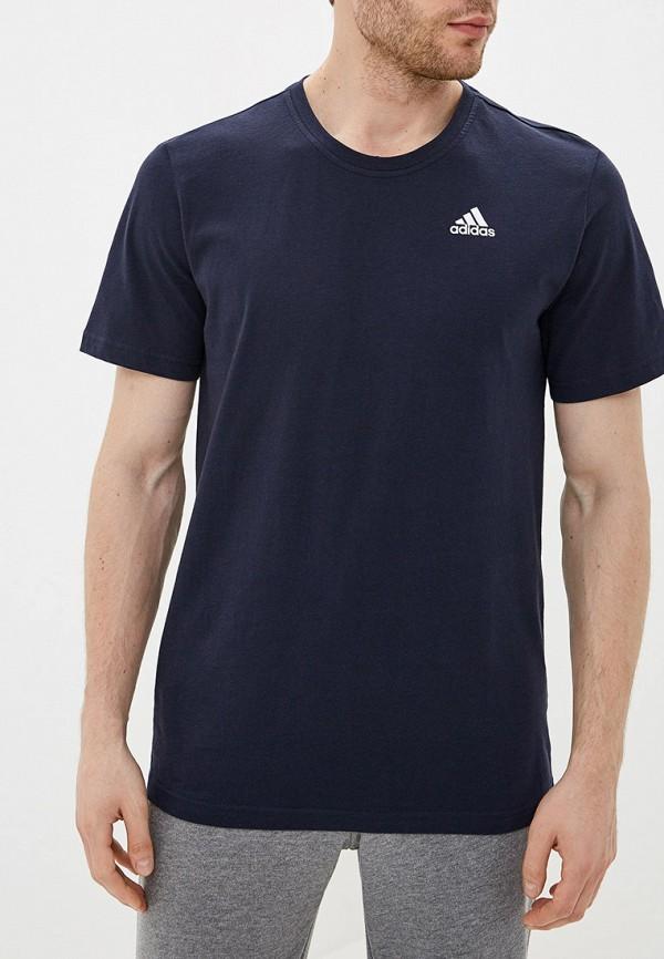 5ec6bb03b444 Мужские футболки Adidas, синие - купить от 995 руб в интернет ...