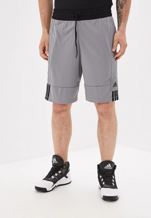 Купить Шорты спортивные adidas серого цвета
