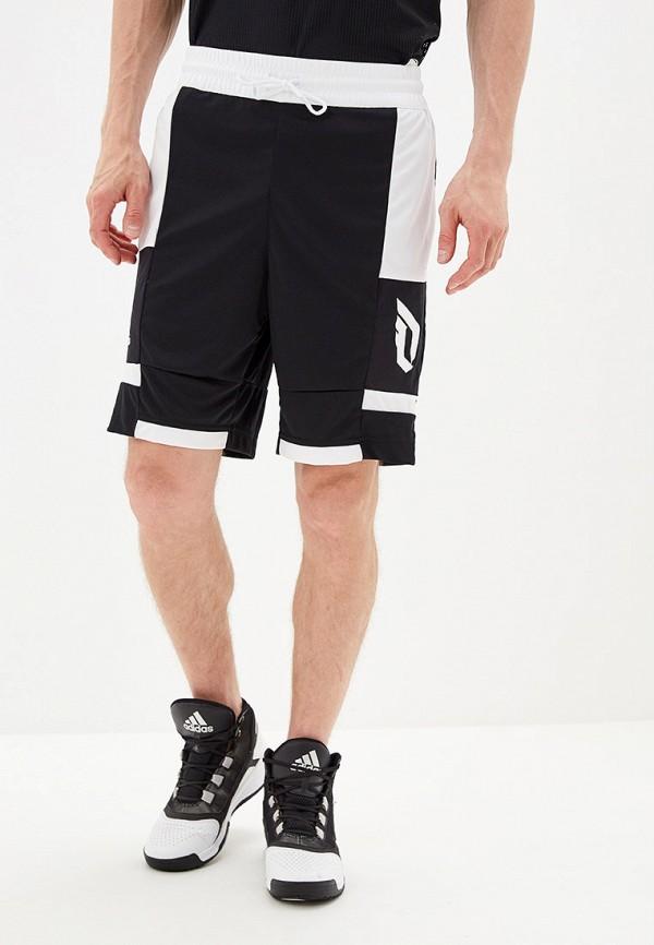 мужские спортивные спортивные шорты adidas, черные