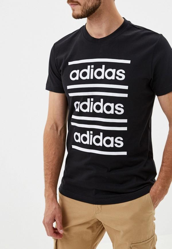мужская спортивные футболка adidas, черная