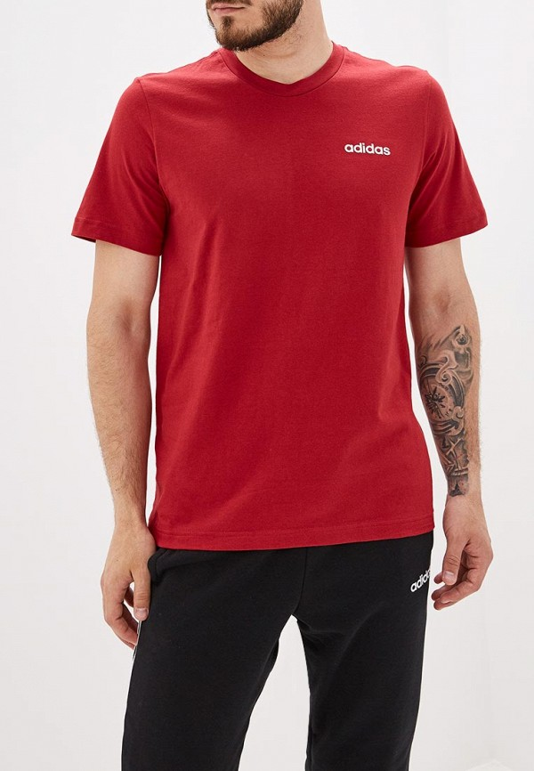 Купить мужскую футболку adidas красного цвета