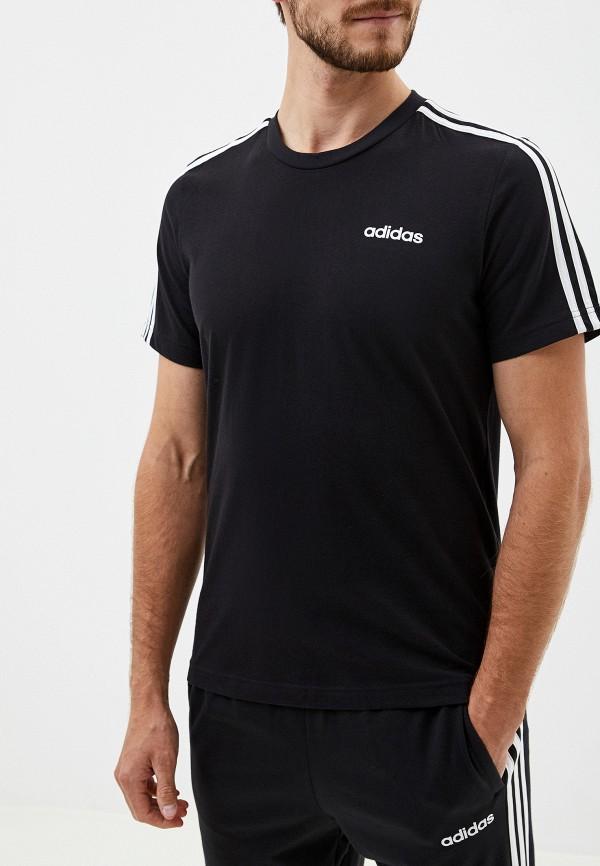 мужская футболка adidas, черная