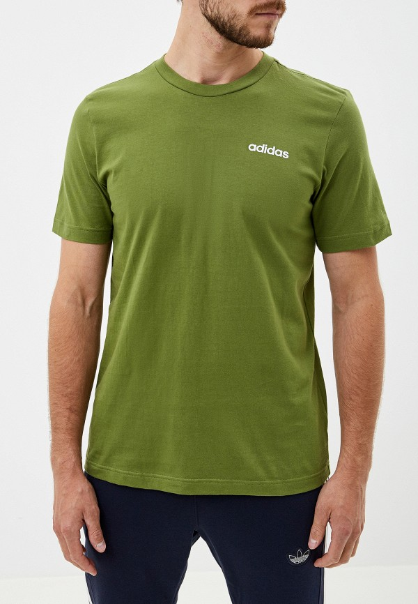 мужская футболка adidas, зеленая