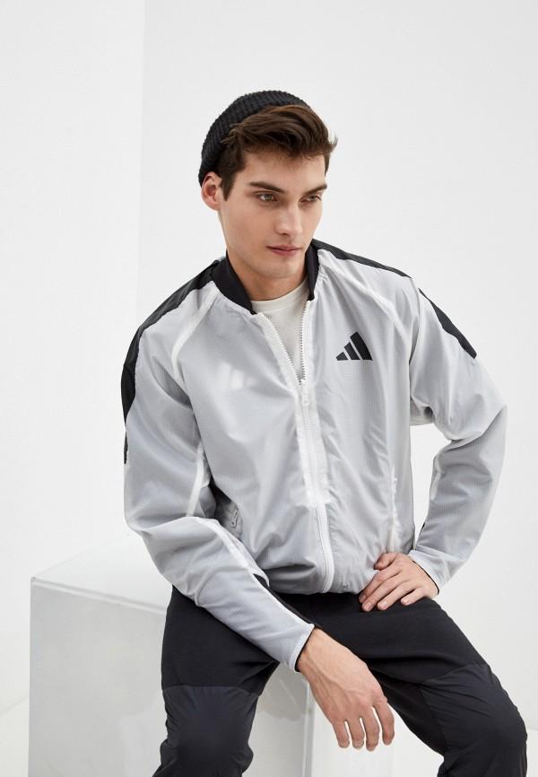 мужская ветровка adidas, белая