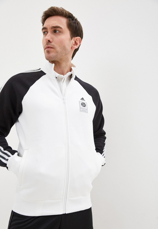 мужская олимпийка adidas, белая